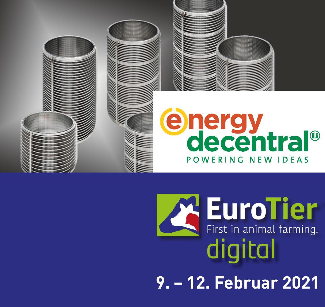 Messe Banner mit Termin der EuroTier und EnergyDecentral Online